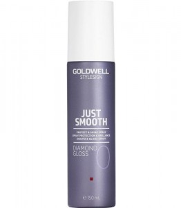 Goldwell Stylesign Just Smooth Diamond Gloss, Nabłyszczający spray ochronny do włosów, 150 ml