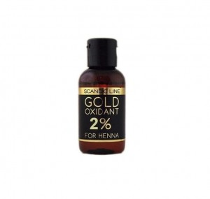 Scandic Line Gold Oxidant 2% For Henna, Woda utleniona 2% do brwi i rzęs, 50 ml