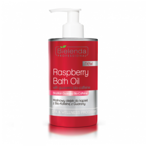 Bielenda Professional Raspberry Bath Oil, Malinowy Olejek do Kąpieli, 300ml